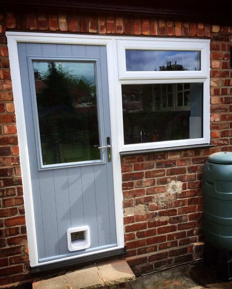 The window company manchester upvc windows doors for Upvc french doors with cat flap