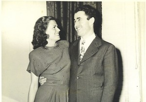 Grandma Esther & Grandpa Al, about 2 years after her liberation from Auschwitz.