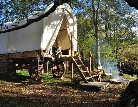 You Can Now Stay In A Cowboy Wagon In The Beautiful Haworth Countryside