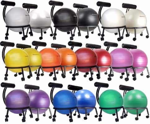 #3 Isokinetics Inc. Brand Adjustable Fitness Ball Chair - Metal Frame