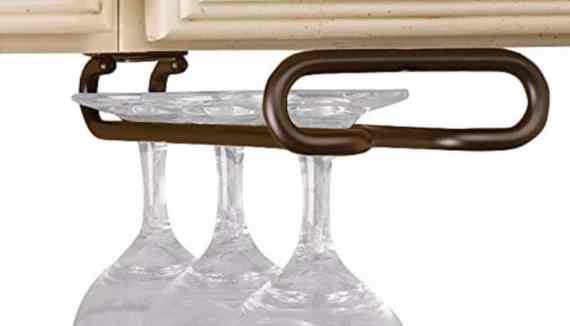 #7 3150-11ORB - 11 in. Oil Rubbed Bronze Under Cabinet Wine Glass Holder