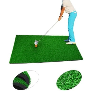 SUMERSHA Golf Mat Residential Practice Hitting Mat Rubber Tee Holder