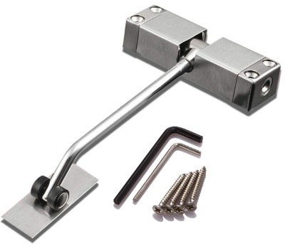 SIXDEFLY Automatic Mounted Spring Door Closer Stainless Steel Adjustable Surface Self Closing Door