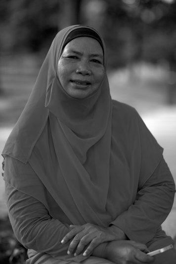 Portrait of Intan taken at Kuala Lumpur City Centre Park.