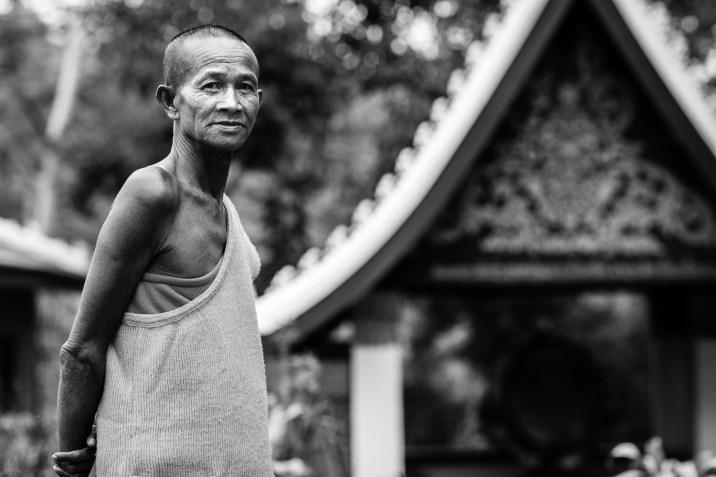 luang prabang wat chomped monk portrait
