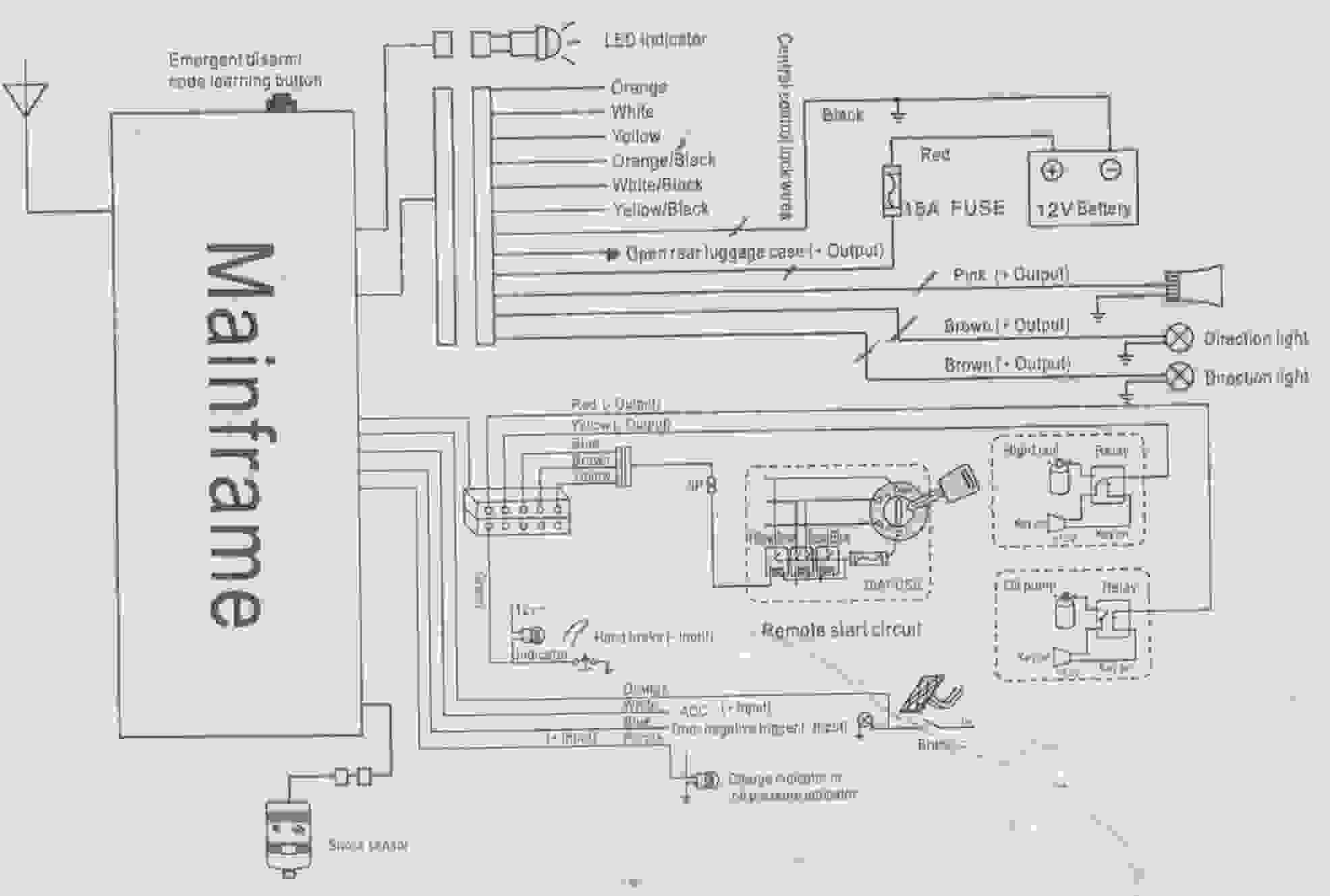 Aolin Car Alarm Wiring Diagram