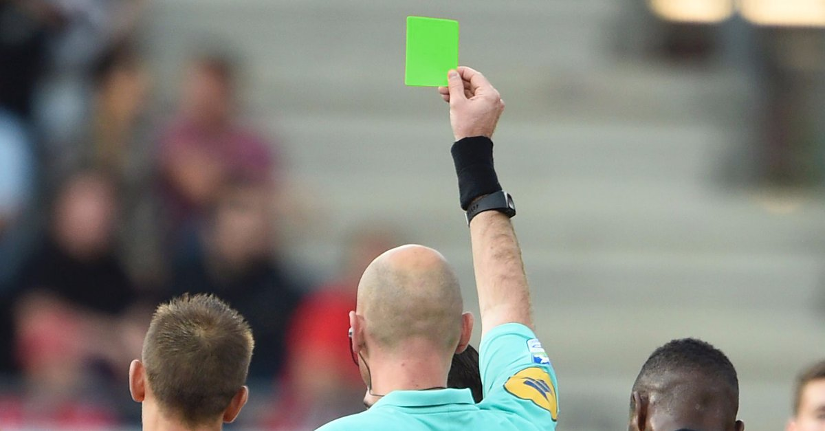 Image result for football green card