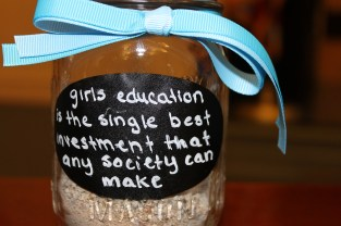 Jars with inspirational quotes were made for the event.
