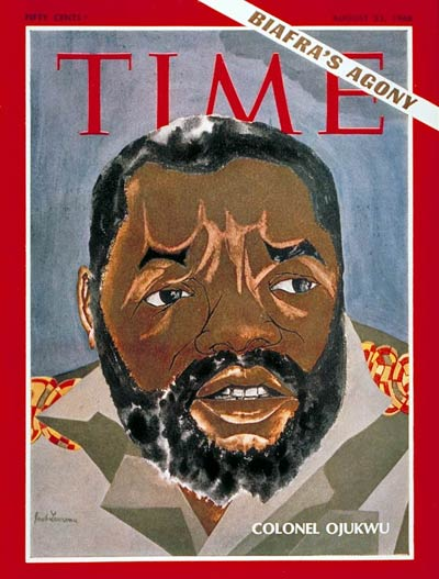 Odumegwu Ojukwu August 23rd, 1968 (Magazine Cover Credit: Time Magazine)