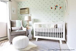 Starry Night Star Wall Stencil nursery decor idea by Royal Design Studio Stencils.