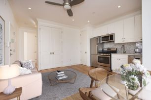 Real estate photo of main living space