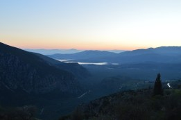 Sunset in Delphi, Greece