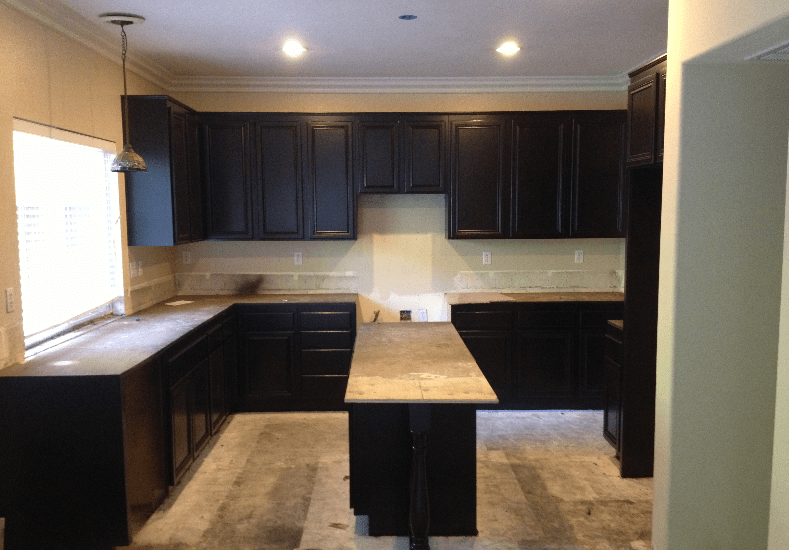 Re-finished Kitchen Cabinets for a newly constructed home in Mission Hills area in San Diego County.