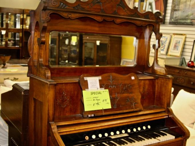 Antique pump organ for $99 at Saint Vincent de Paul's Los Angeles Thrift Store