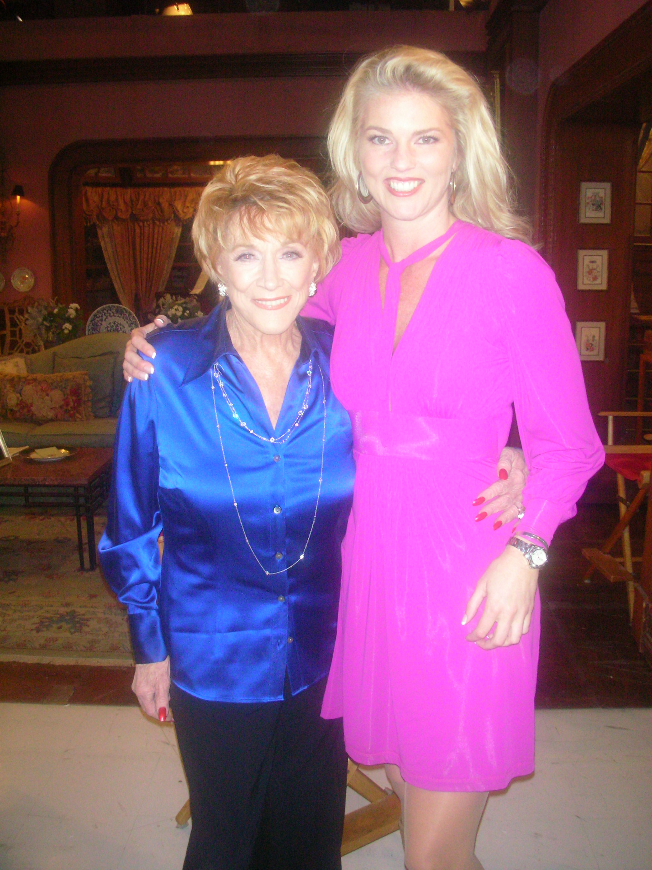 Corinna with Jeanne Cooper