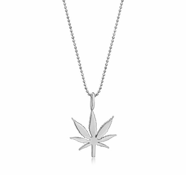 Kind Fine Jewelry Sterling Silver Cannabis Leaf Necklace