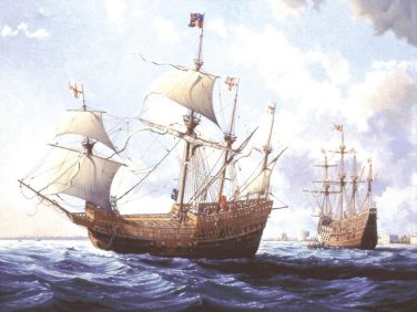 Artists impression of the Mary Rose