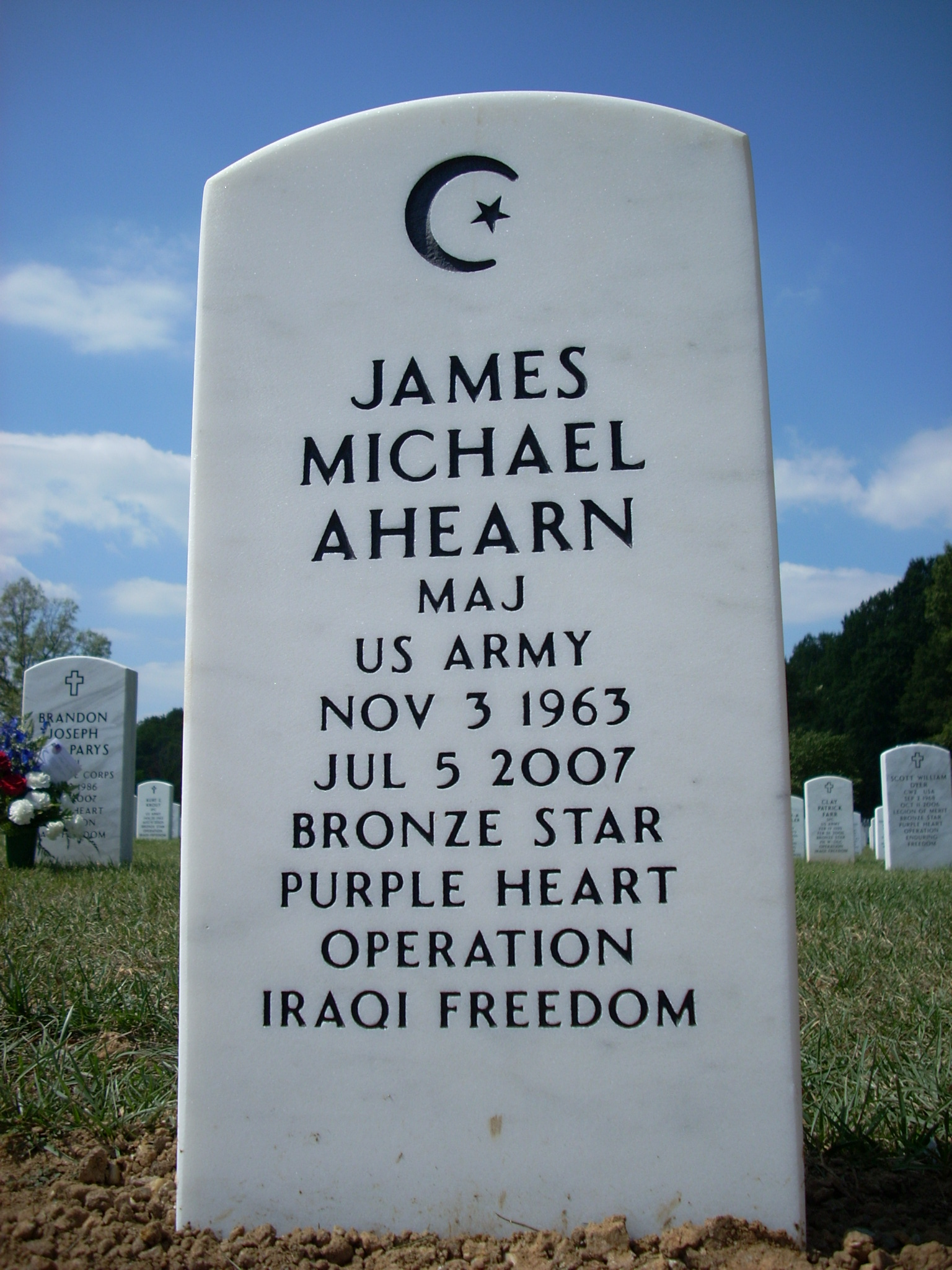 Grave of Major James Michael Ahearn