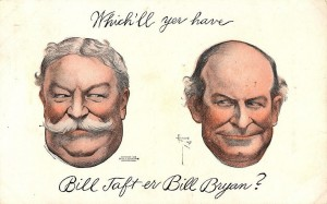Flyer from the Election of 1908. Taft defeated opponent William Jennings Bryan in the election shortly before Christmas.