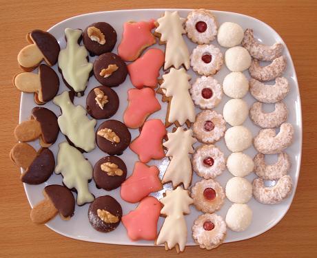 Vánocní cukroví - decorated cookies, traditionally eaten at Christmas