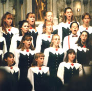 The Roanoke College Children's Choir performed at the 1996 National Christmas Tree lighting ceremony