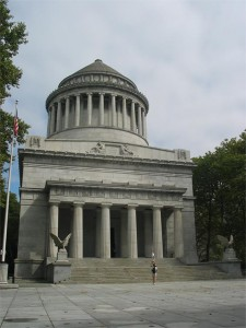 Grant's Tomb, the national memorial in New York, the state where the former President Grant and his family spent their last Christmases together before his death in 1885