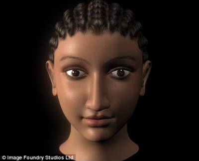 Cleopatra's likeness was pieced together from images on ancient artifacts, including a ring dating from Cleopatra's reign 2,000 years ago, and the remains of her sister Princess Arsinöe found in 2009