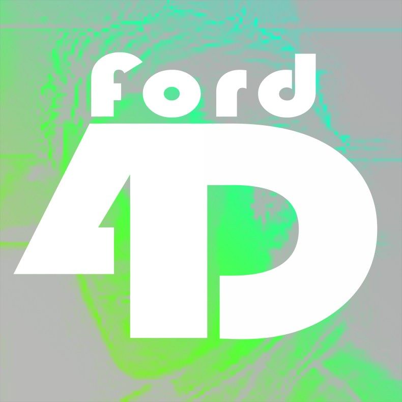 Ford4D's logo with a green figure behind the FORD4D