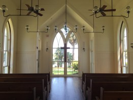 """The chapel's pews are made of wood reclaimed from 9/11,"