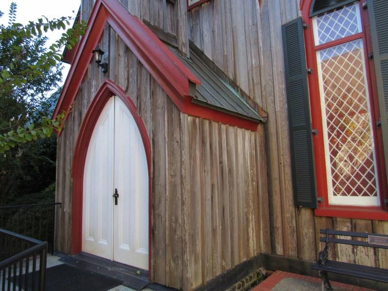 Pine church doors