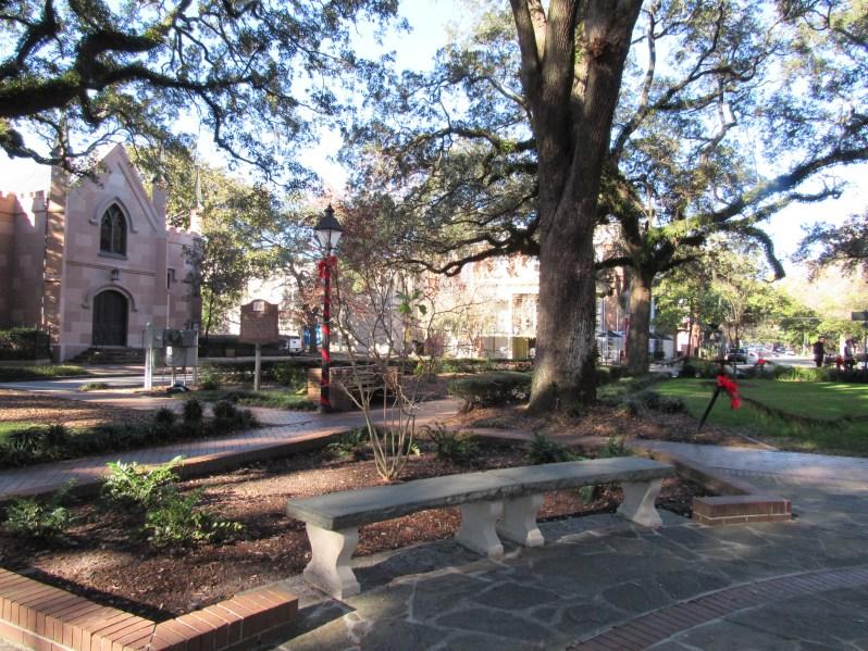 Bench in Savannah Square