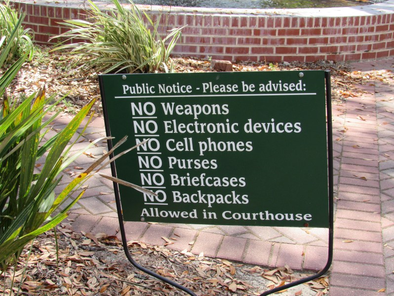 Courthouse rules