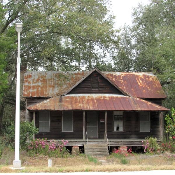Weathered pine home