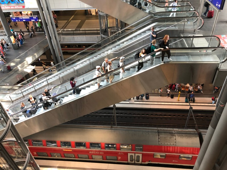 Multi level Berlin train station