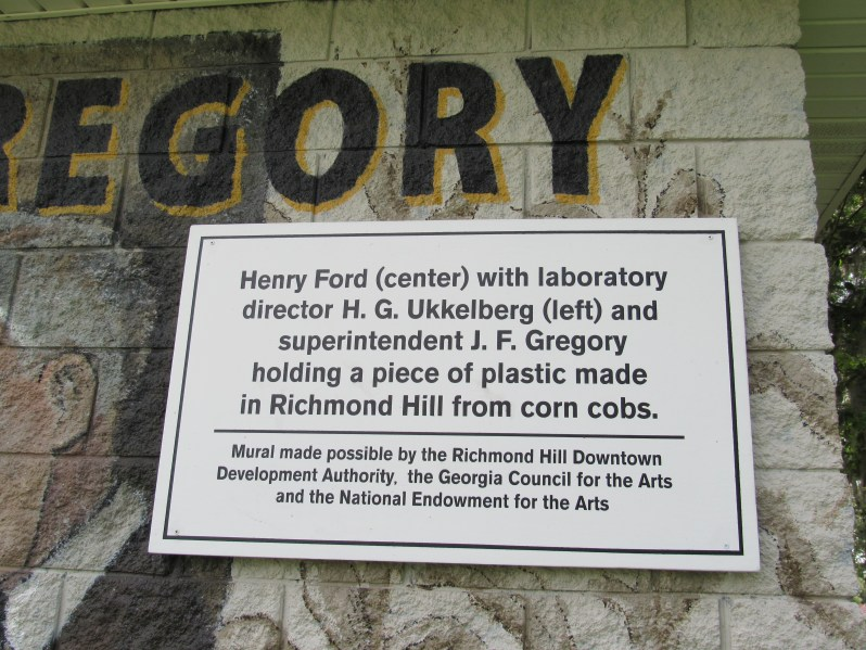 Information Marker for Henry Ford Mural