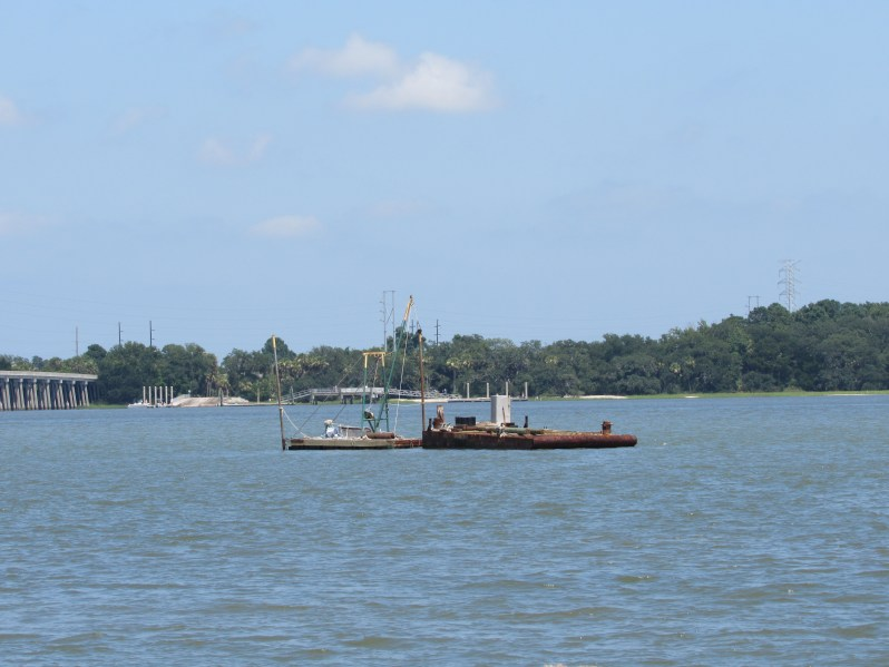 Boats and barge