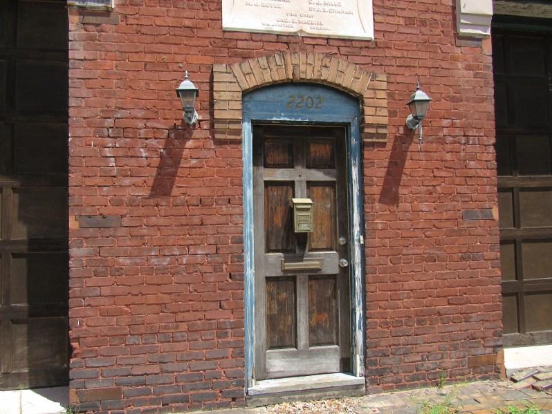 Mailbox on front door