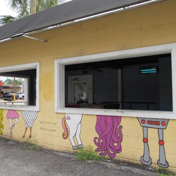 Bottoms Up mural