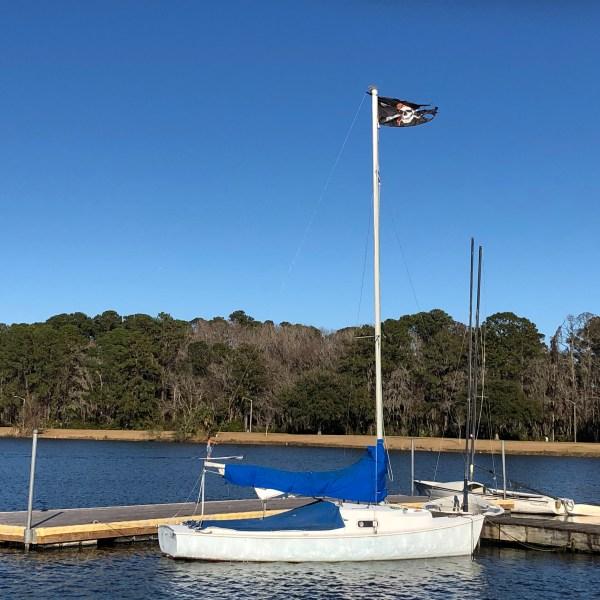 Sailing center dock