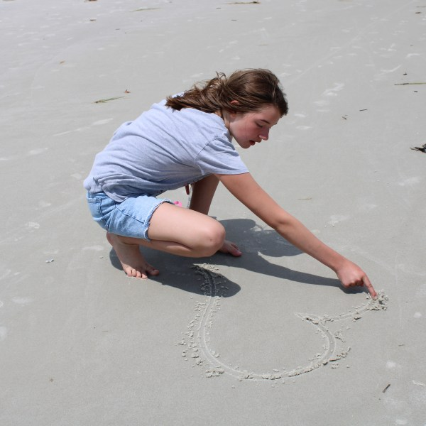 Love note in the sand