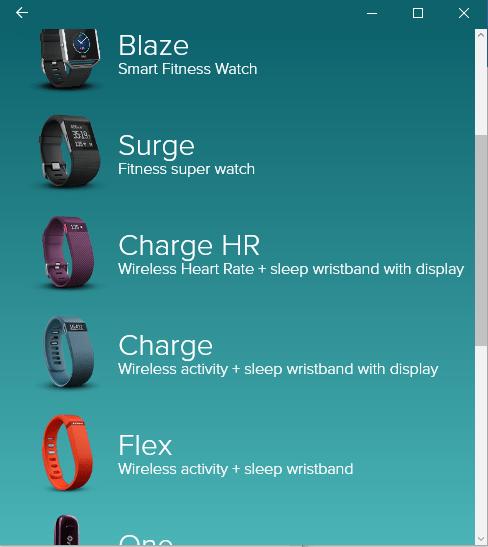 Fitbit Surge GPS HR app windows 10 setup