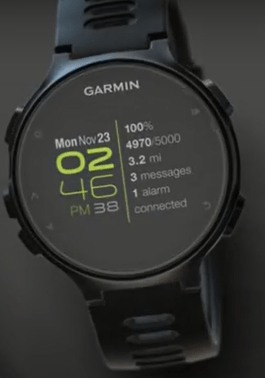 735XT With Line Watch Face