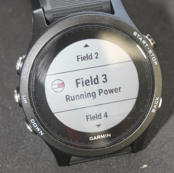 Running Power Garmin 935
