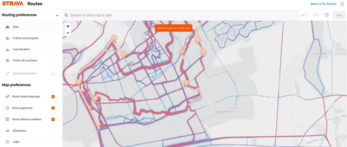 STRAVA Heatmap Routing WEB