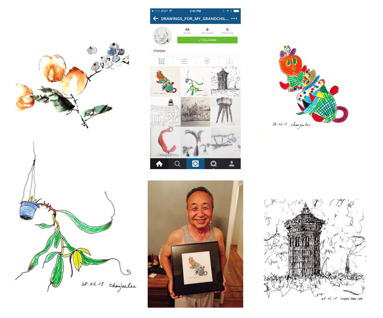 ji lee father drawings instagram