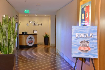 The entrance to the 2014 FWAA Annual Awards Breakfast at the Newport Marriott Hotel & Spa. (Photo courtesy of Rose Bowl)
