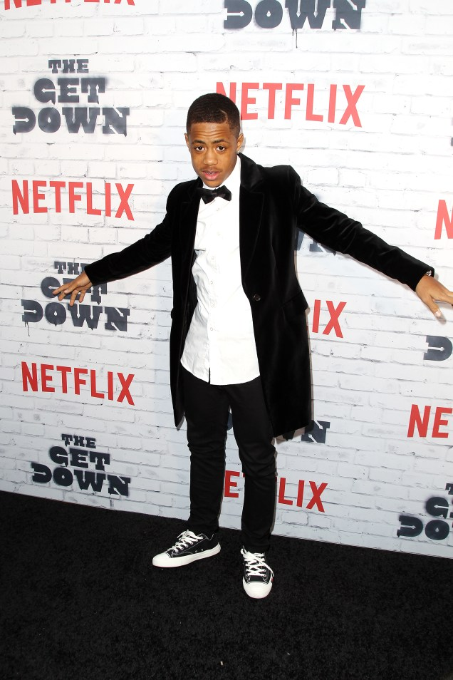 "- New York, NY - 4/5/17 - Netflix New York Kickoff Party for Part Two of ""The Get Down"" -Pictured: Tremaine Brown Jr. -Photo by: Patrick Lewis/Starpix -Location: Irving Plaza"