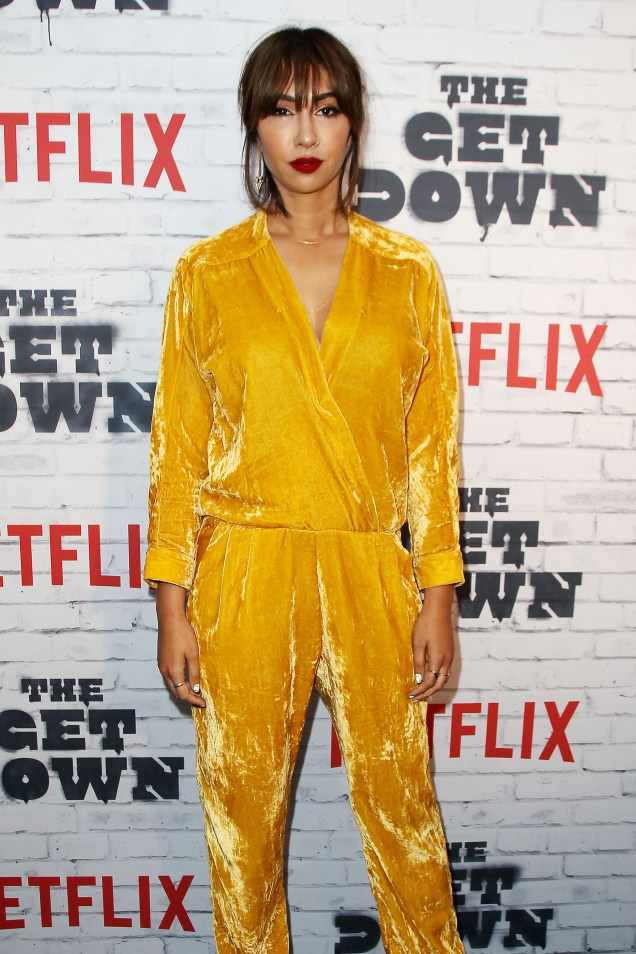 "- New York, NY - 4/5/17 - Netflix New York Kickoff Party for Part Two of ""The Get Down"" -Pictured: Jackie Cruz -Photo by: Patrick Lewis/Starpix -Location: Irving Plaza"