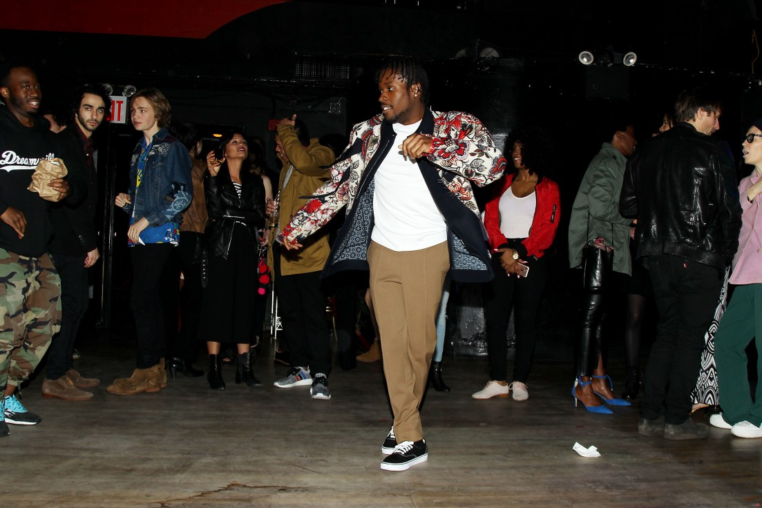 """- New York, NY - 4/5/17 - Netflix New York Kickoff Party for Part Two of """"The Get Down"""" -Pictured: Shameik Moore -Photo by: Patrick Lewis/Starpix -Location: Irving Plaza"""