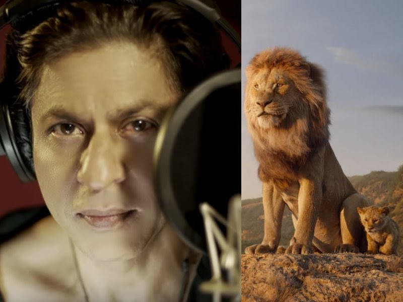 The Hindi version of the Lion King carries the voices of Shahrukh Khan and his young son Aryan Khan.